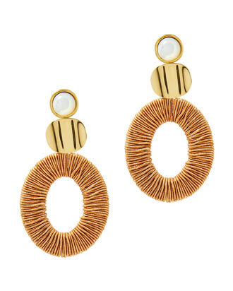 Harvest Moon Earrings, GOLD, hi-res