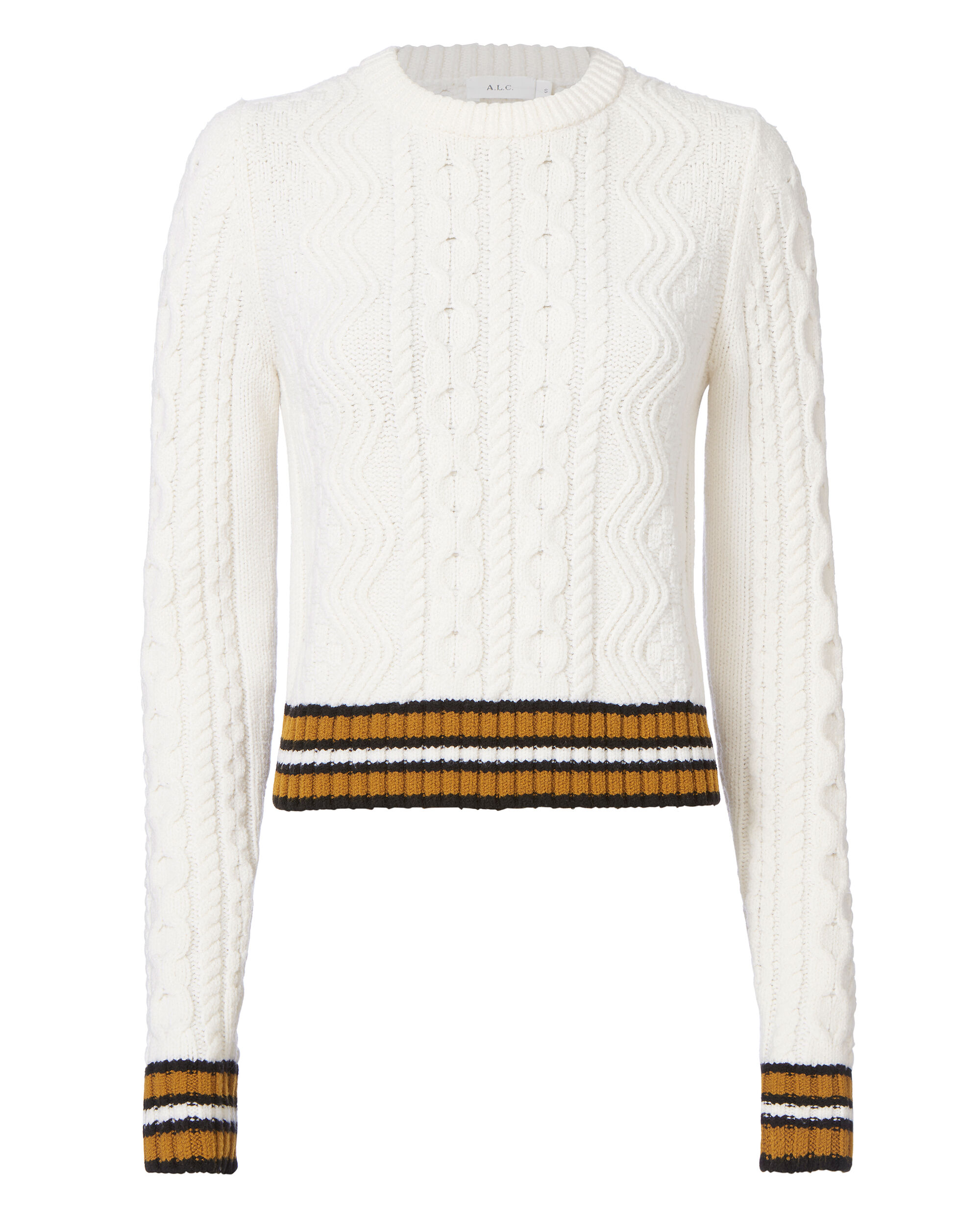 Alpha Striped Sweater, , hi-res