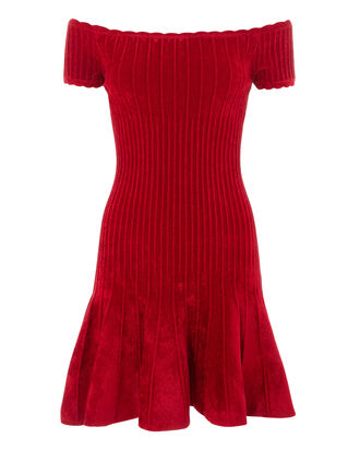 Karin Chenille Dress, RED, hi-res