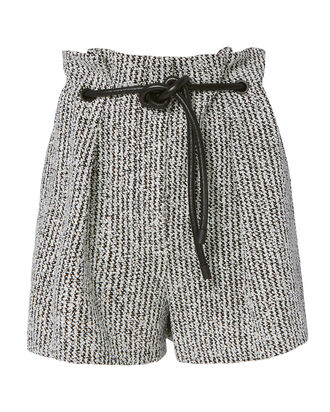 Origami Pleated Bouclé Shorts, , hi-res