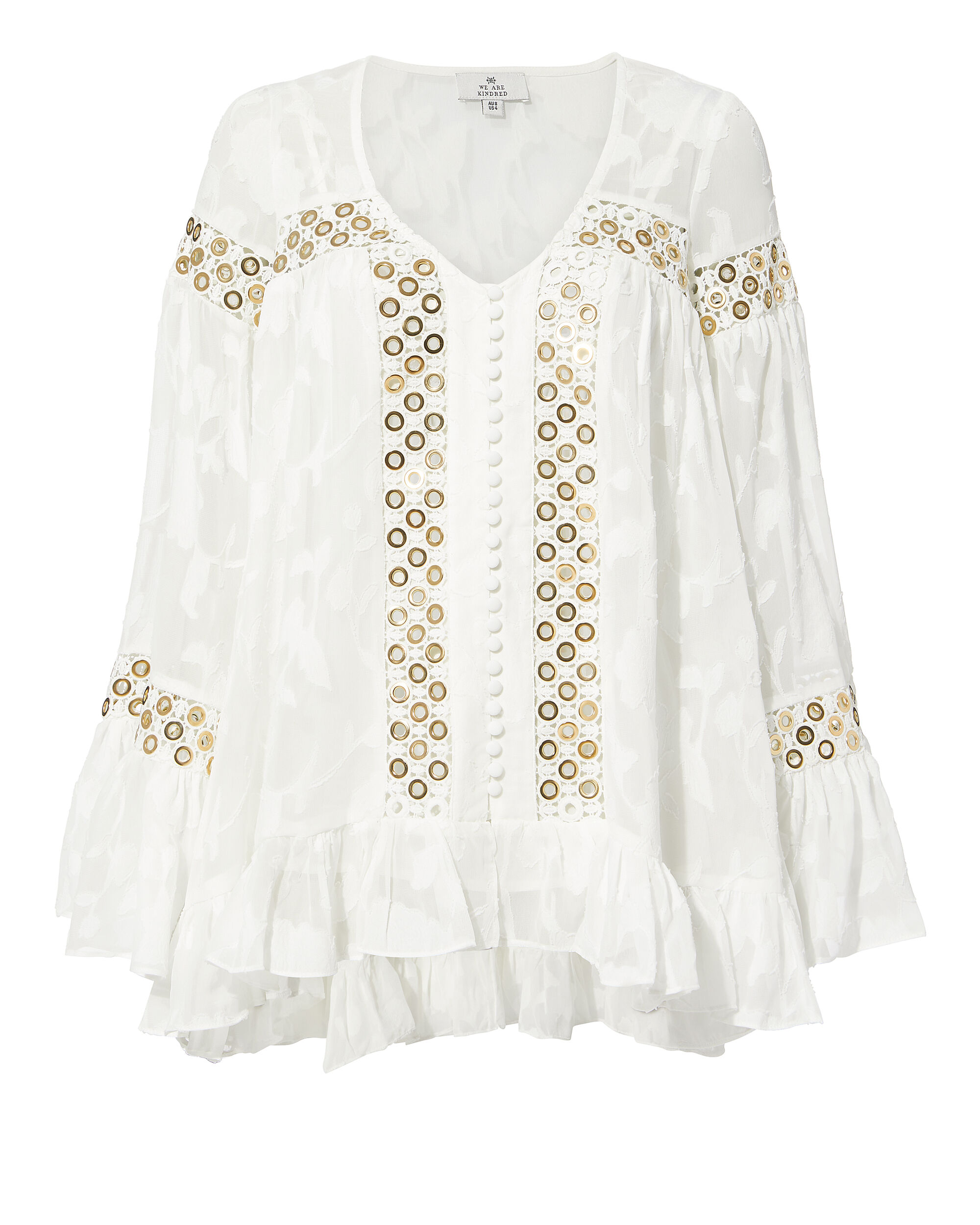WE ARE KINDRED Stephanie Gold Grommet Blouse