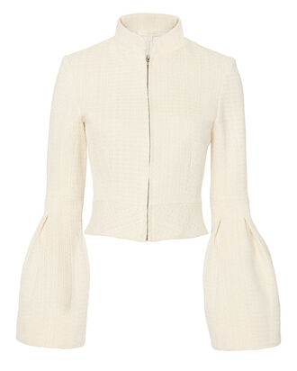 Bone Bell Sleeve Jacket, IVORY, hi-res
