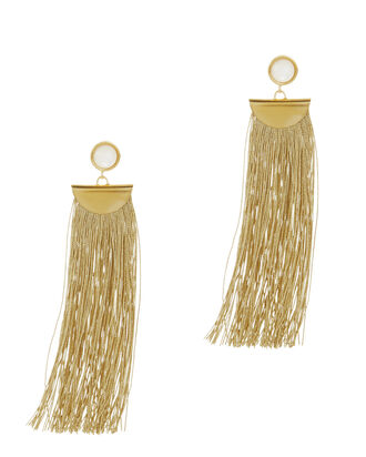 Gold Shoulder Duster Earrings, , hi-res