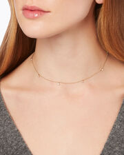 Delicate Hanging Diamonds Necklace, GOLD, hi-res