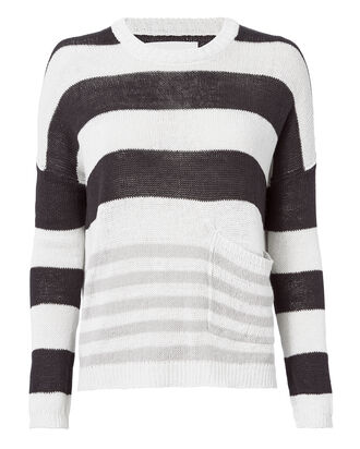 Zander Oyster-Stripe Pullover Sweater, PATTERN, hi-res