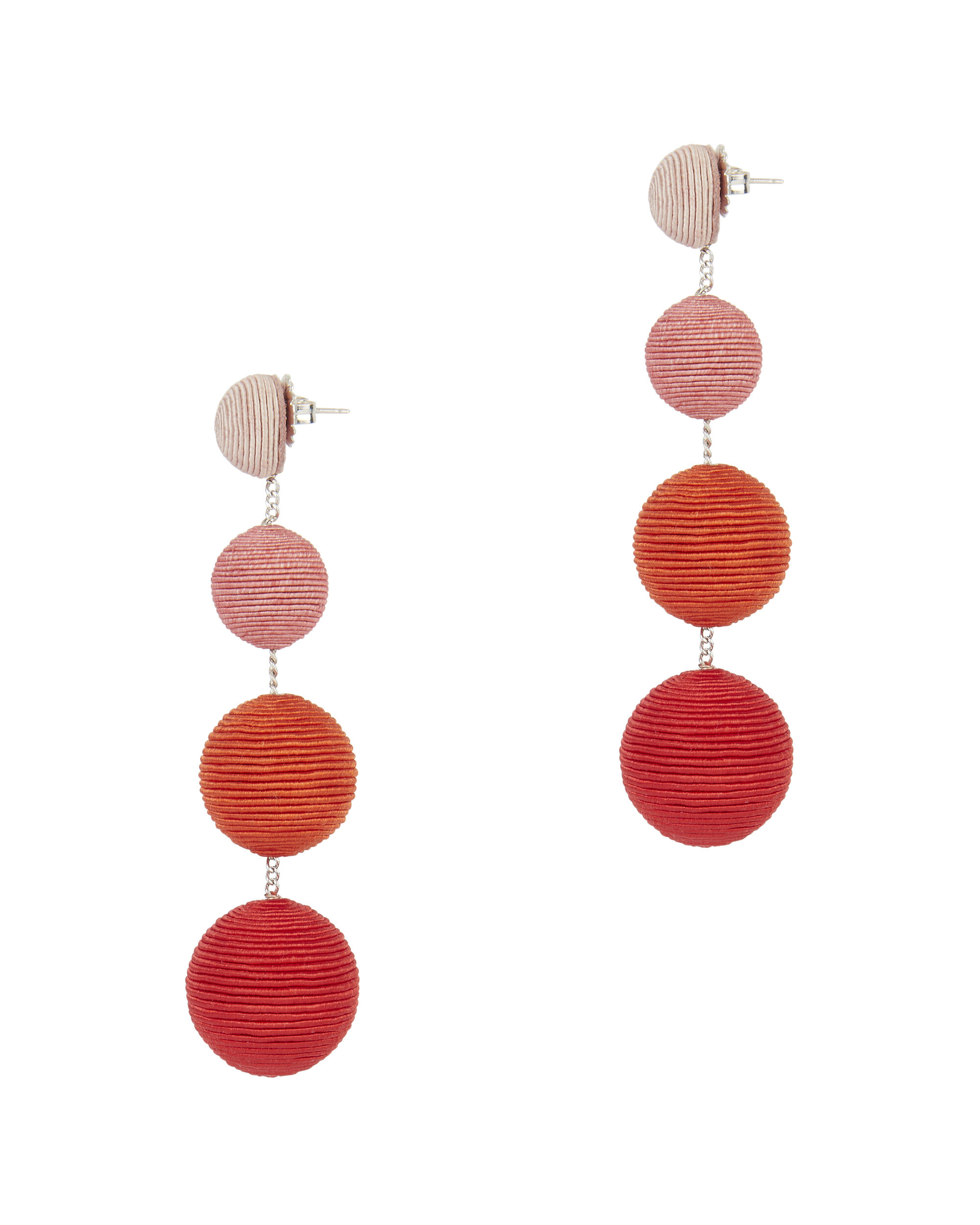 Ombré Gumball Earrings, CORAL, hi-res