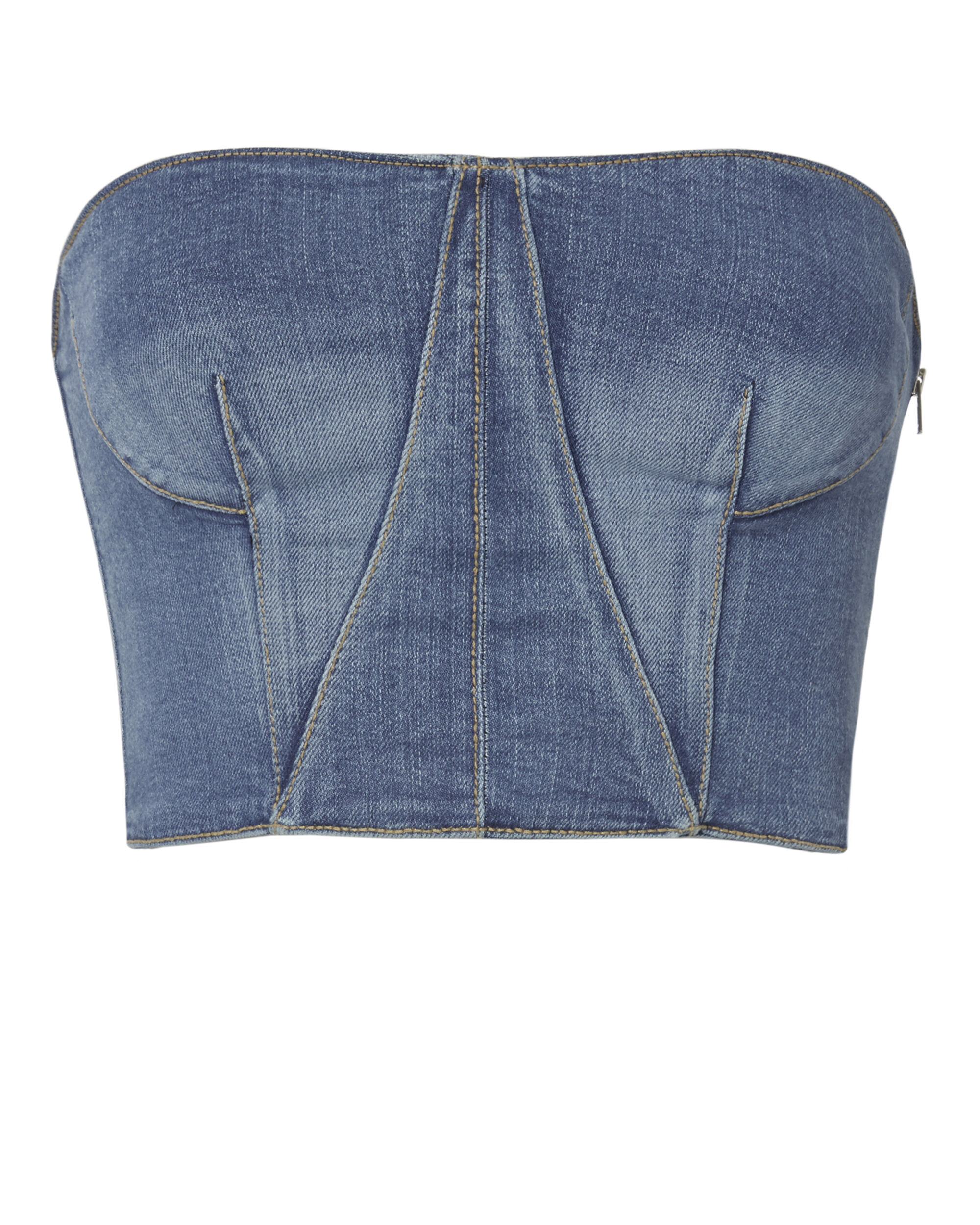 Denim Bustier Top