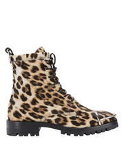 Lyndon Leopard Haircalf Combat Boots, PATTERN, hi-res