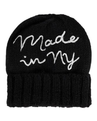 Made In NY Black Beanie, BLACK, hi-res