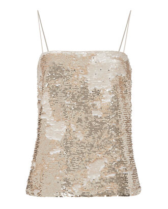 Gold Sequin Tank, METALLIC, hi-res