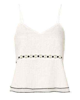Emma Daisy Trim Camisole Top, WHITE, hi-res