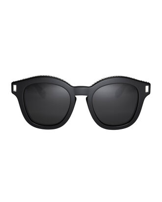 Swarovski Crystal Embellished Wayfarer Sunglasses, BLACK, hi-res