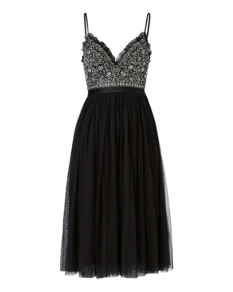Andromeda Tulle Midi Dress, BLACK, hi-res
