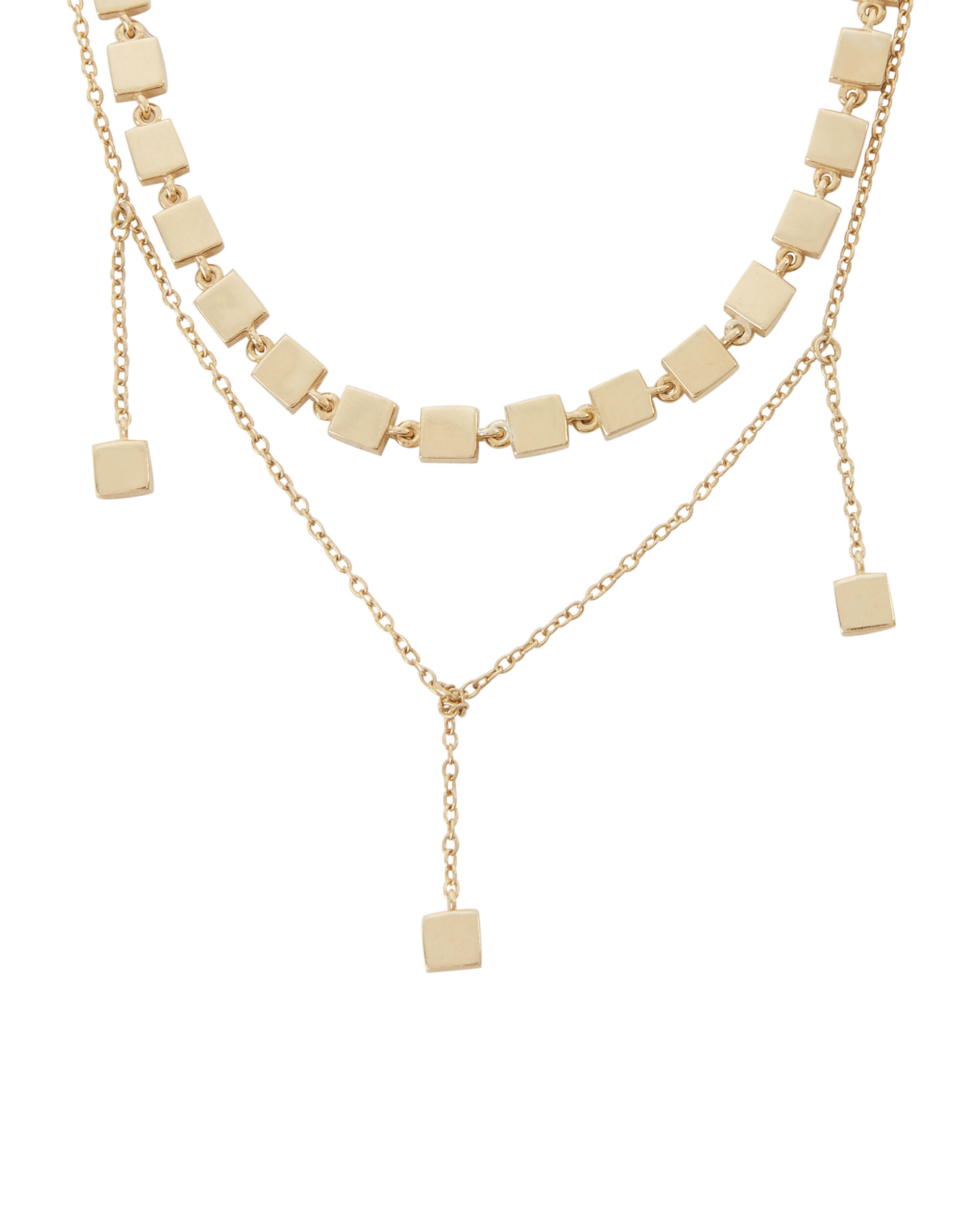 Pre-Layered Short Necklace, GOLD, hi-res