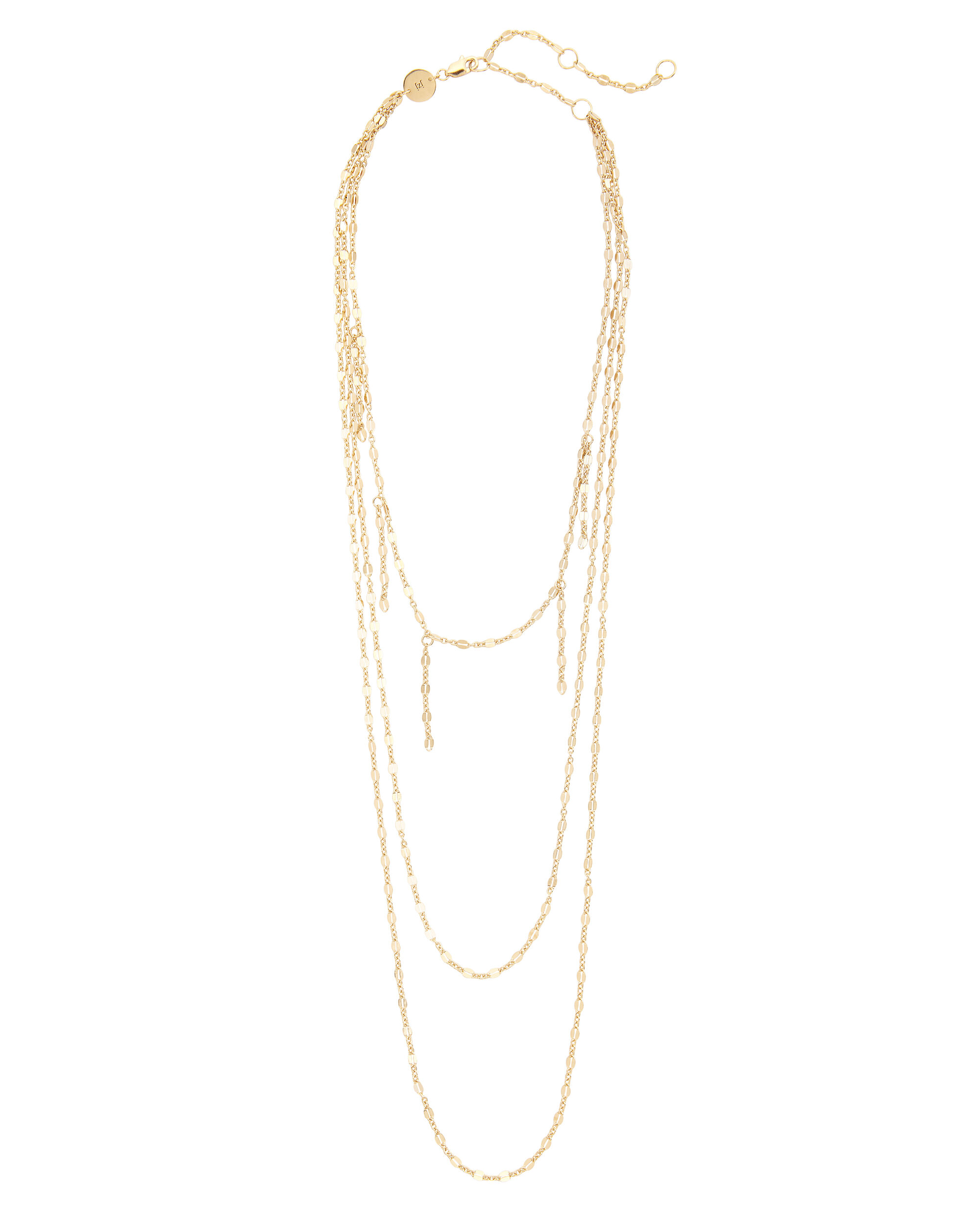 Triple Layered Necklace, GOLD, hi-res