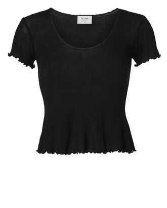 Ribbed Baby Tee, BLACK, hi-res