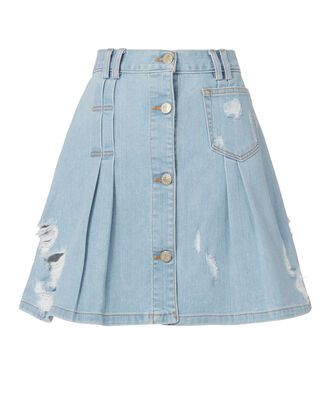 Penny Denim Mini Skirt, DENIM, hi-res