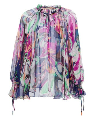 Aruba Printed Blouse, MULTI, hi-res