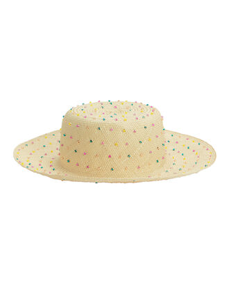 Seed Multicolored Beaded Hat, BEIGE, hi-res