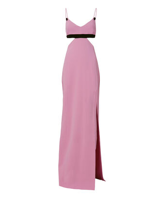 Cady Colorblock Cutout Gown, MULTI, hi-res