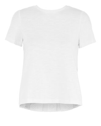 Luna Lace Combo Tee, WHITE, hi-res