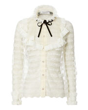 Victorian White Lace Top, WHITE, hi-res