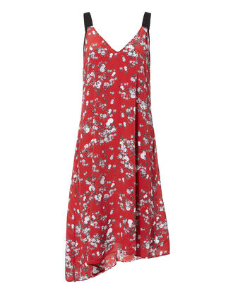 Zoe Floral Dress, RED, hi-res