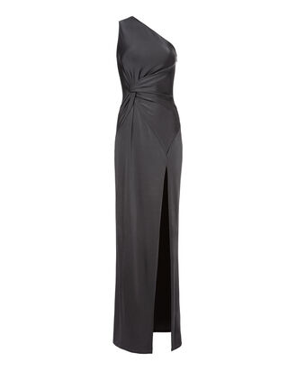 Denise Graphite Gown, GREY, hi-res