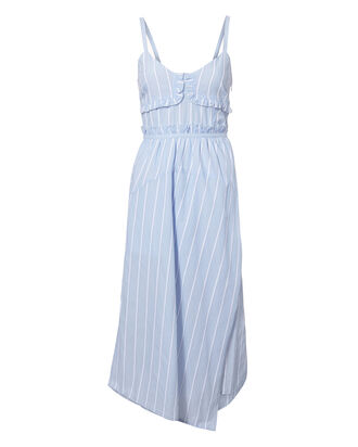 Ruffle Cami Dress, BLUE-LT, hi-res