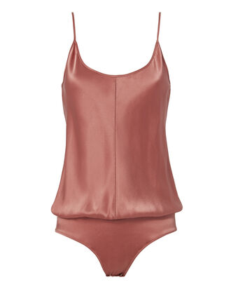 Silk Cami Rose Bodysuit, PINK, hi-res
