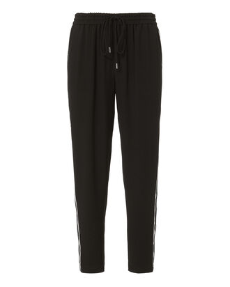 Oliva Striped Track Pants, BLACK, hi-res