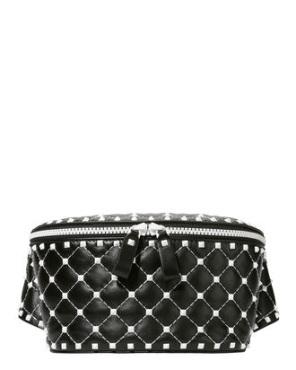 Free Rockstud Spike Belt Bag, BLACK, hi-res