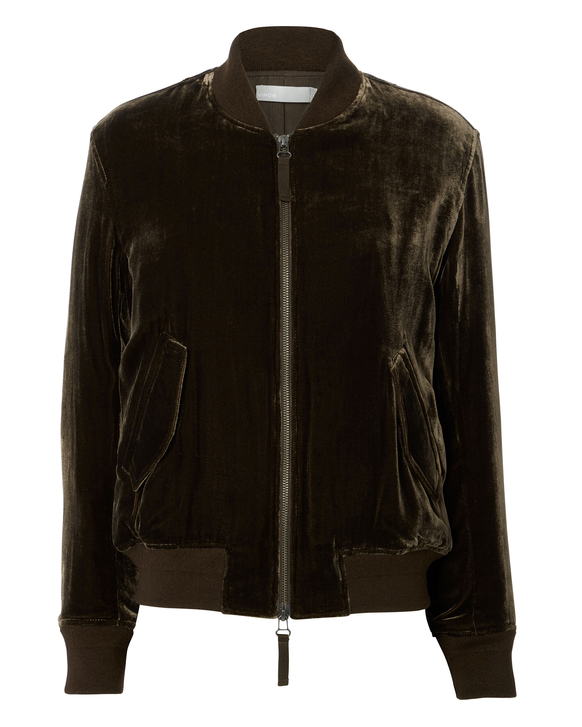 Saddle Velvet Bomber Jacket, BROWN, hi-res