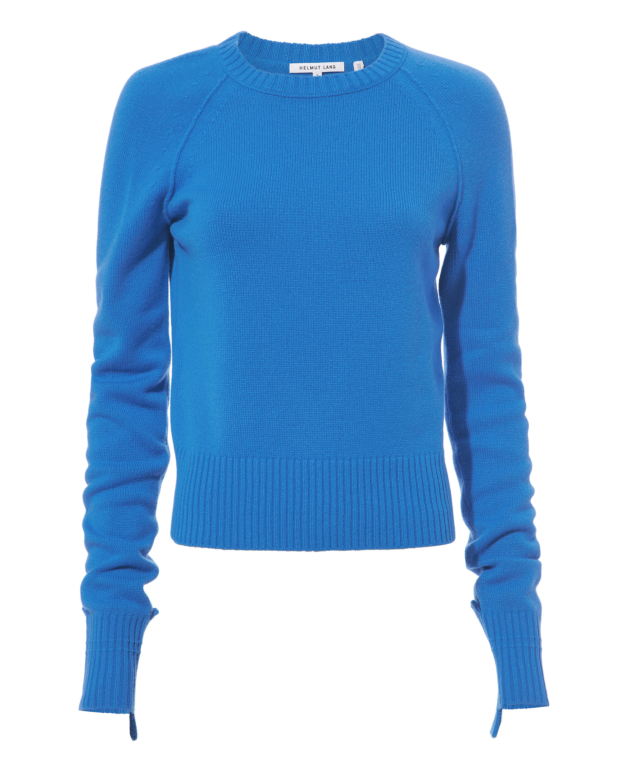 Disjointed Cuff Cashmere Sweater, BLUE-MED, hi-res