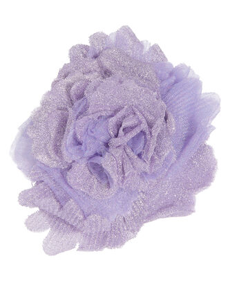 Lavender Lurex Flower Pin, PURPLE-LT, hi-res