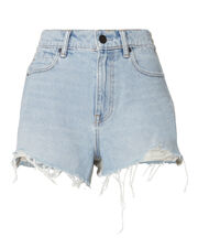 Hybrid Terry Bite Cut Off Shorts, DENIM, hi-res