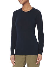 Lila Cross Back Knit Top, NAVY, hi-res