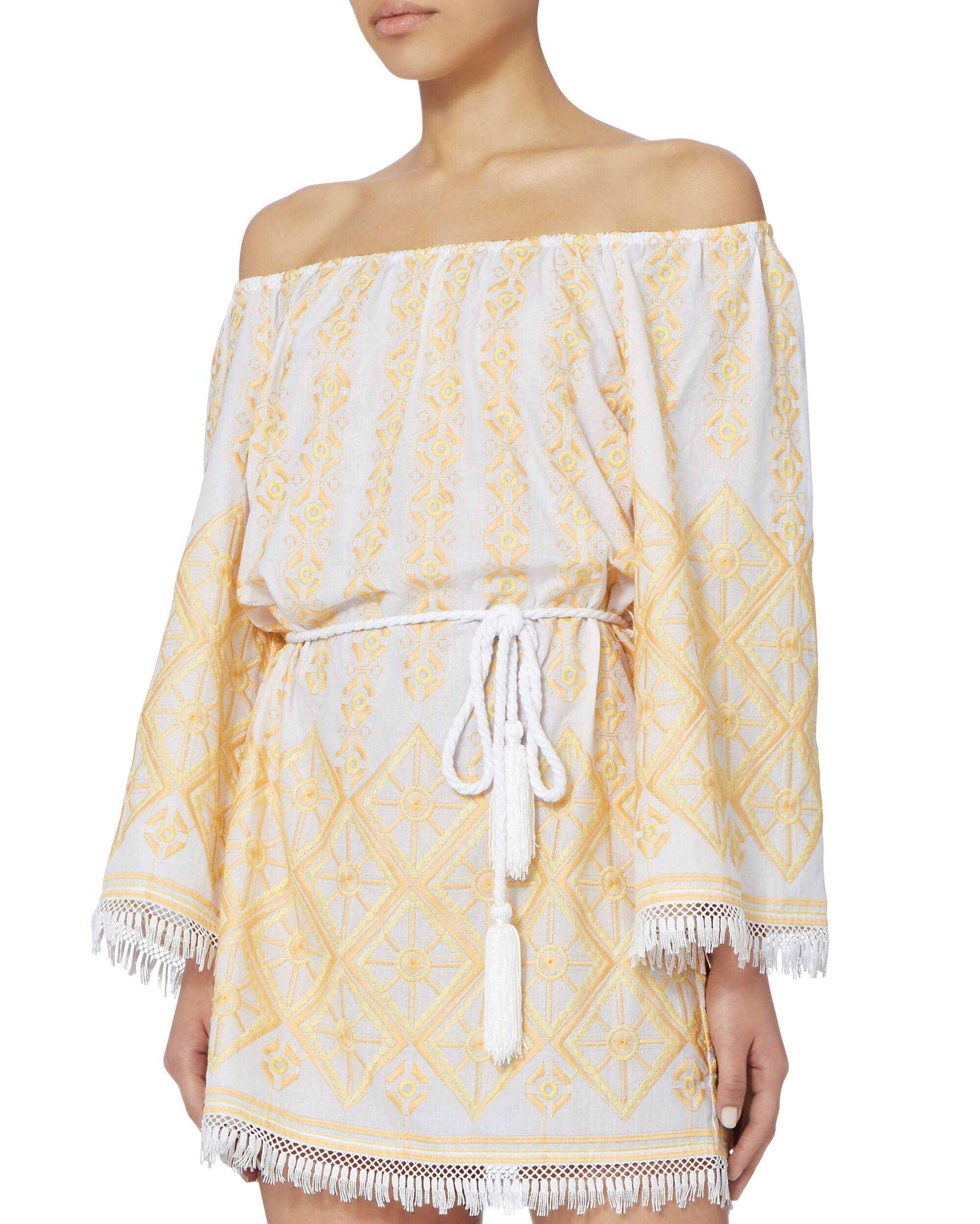 Brinley Embroidered Coverup Dress, PAT-TREND, hi-res