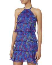 Bailey Tiered Georgette Dress, BLUE, hi-res