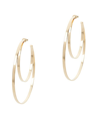Zuma Double Hoop Earrings, METALLIC, hi-res