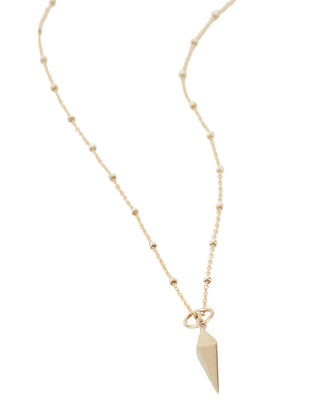Dagger Layered Necklace, GOLD, hi-res