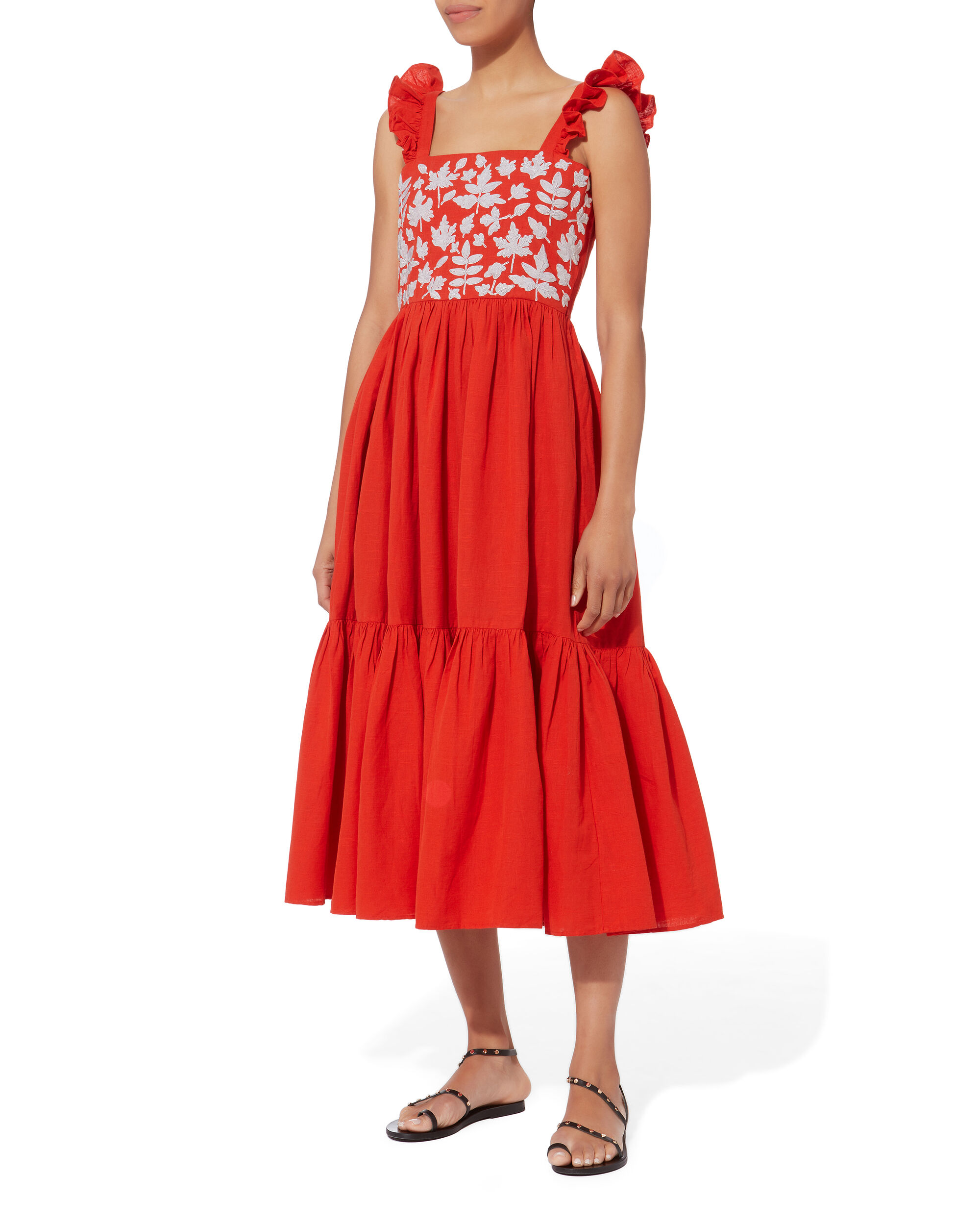 Kuna Dress, RED, hi-res