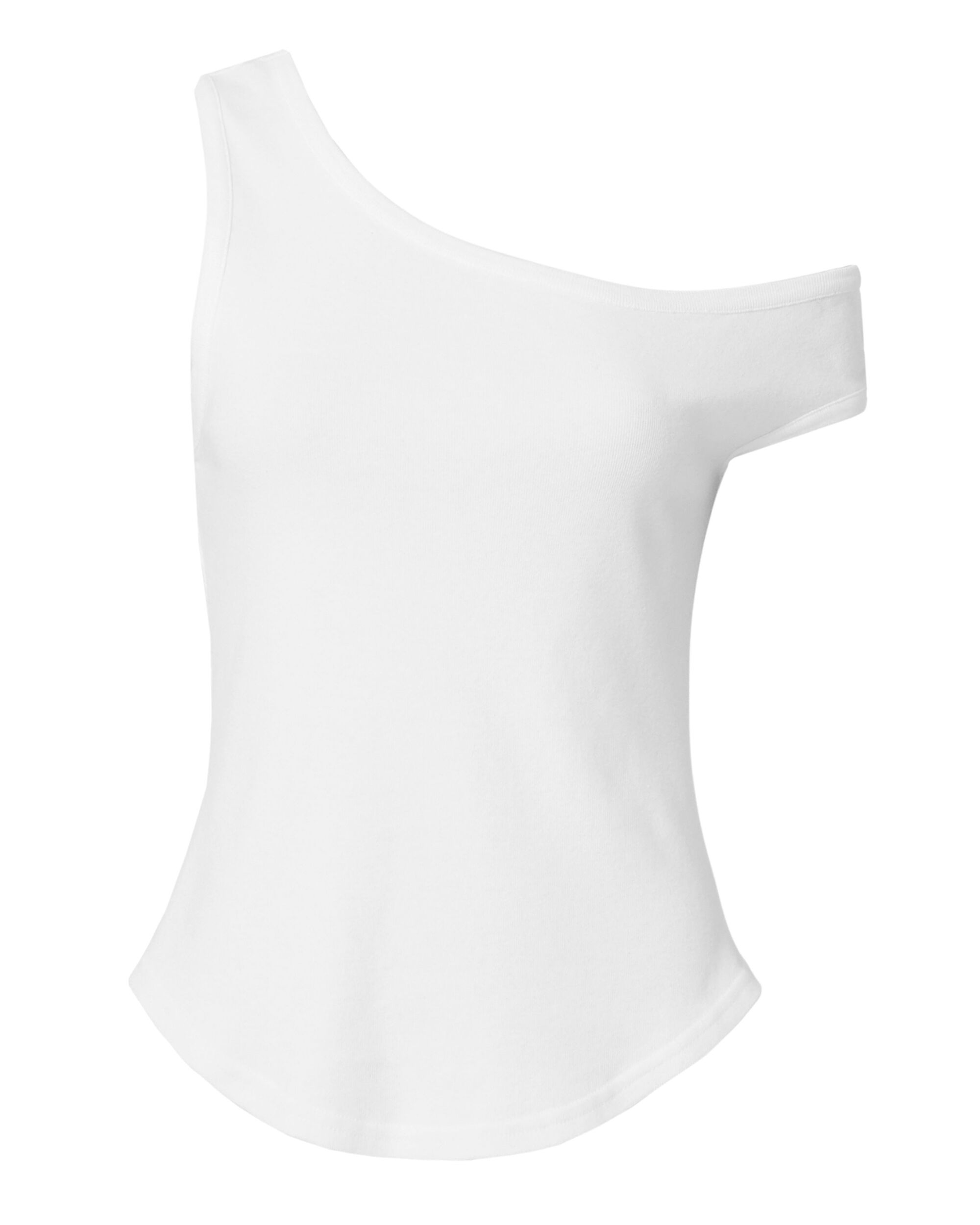 One Sleeve Tank, WHITE, hi-res
