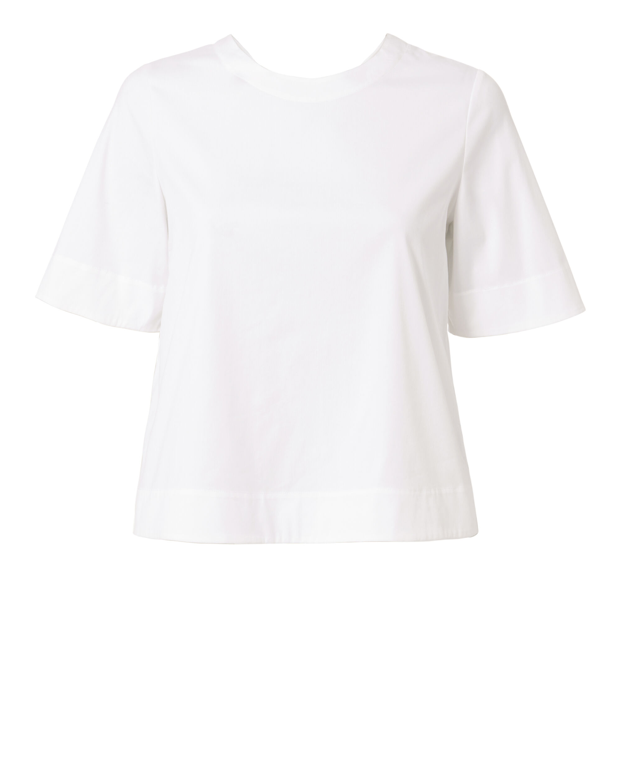 Frankie Lace-Up Back Top, WHITE, hi-res