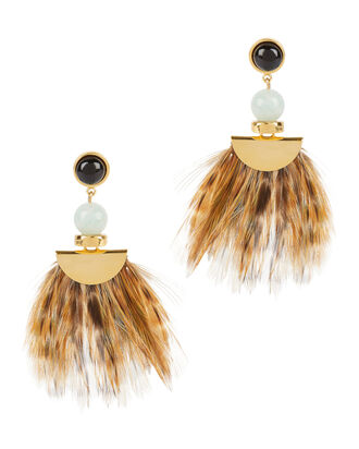 Drop Feather Earrings, MULTI, hi-res