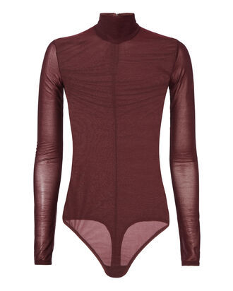 Downing Sheer Bodysuit, PURPLE, hi-res