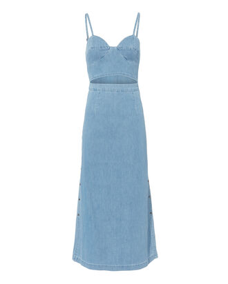 Augustine Peek-A-Boo Dress, DENIM, hi-res