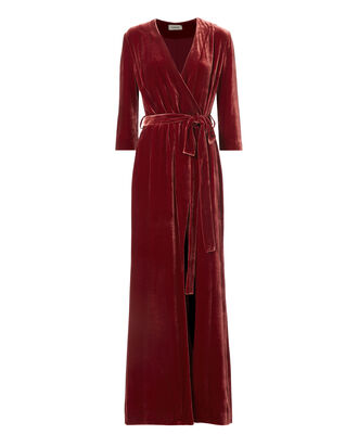 Rosalind Velvet Wrap Maxi Dress, , hi-res