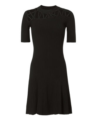 Fractured Lacing Mini Dress, BLACK, hi-res