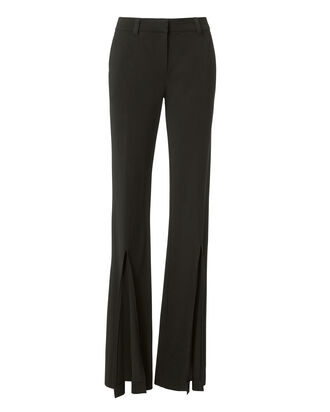 Capen Slit Trousers, BLACK, hi-res